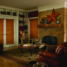 "M&B Olympian 2"" Wood Blinds room scene"