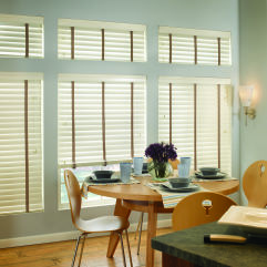 "M&B Olympian 2-3/8"" Wood Blinds room scene"