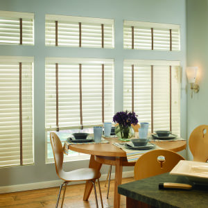"M&B Olympian 2-3/8"" Wood Blinds Room Setting"
