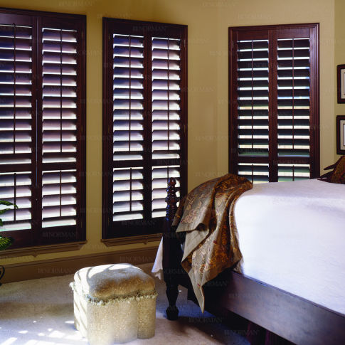 Norman Normandy Wood Shutters Room Setting