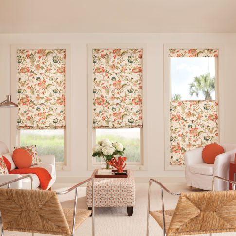 Bali Tailored Seamless Roman Shades Room Setting