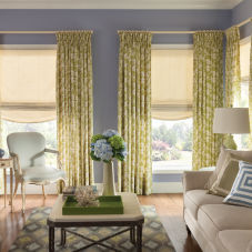 Bali Tailored Relaxed Roman Shades room scene