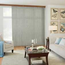 Bali Fabric Vertical Blinds room scene