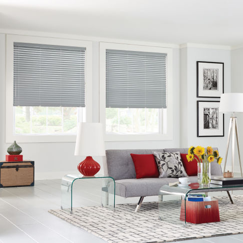 "Bali 2"" Vinyl Horizontal Blinds Room Setting"