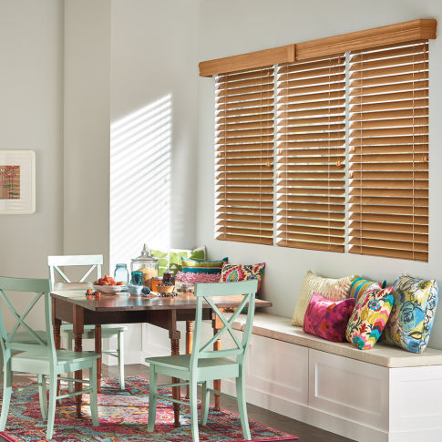 "Bali Northern Heights 2-3/8"" Wood Blinds Room Setting"