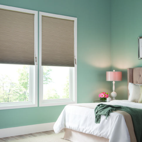 BlindSaver Advantage Single Cell Blackout Shades Room Setting
