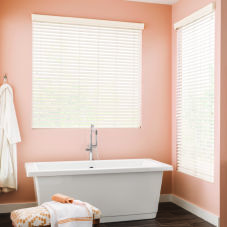 BlindSaver Advantage Faux Wood Blinds room scene