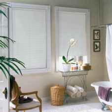 "BlindSaver Basics 1"" Mini Blinds room scene"