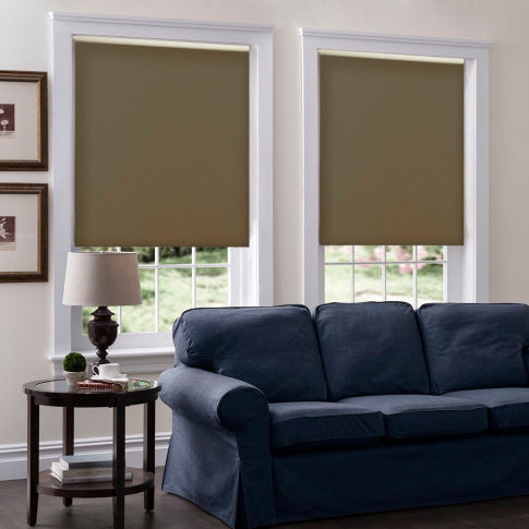 BlindSaver Basics Room Darkening Roller Shades Room Setting