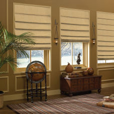 BlindSaver Custom Hobbled Roman Shades room scene