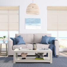 BlindSaver Basics Cordless Woven Wood Shades room scene