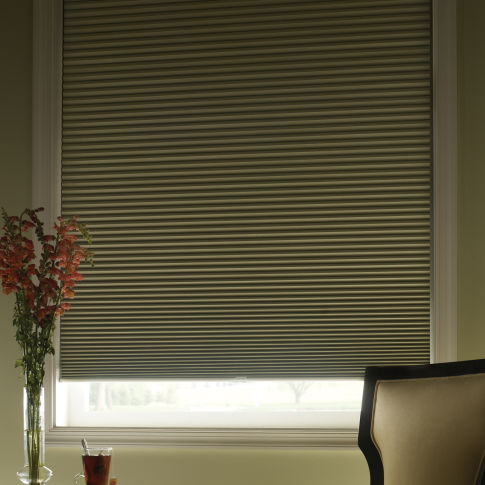 "Finecraft Signature Collection 1/2"" Single Cell Blackout Shades Room Setting"