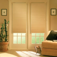"Finecraft Signature Collection 3/8"" Double Cell Blackout Shades room scene"