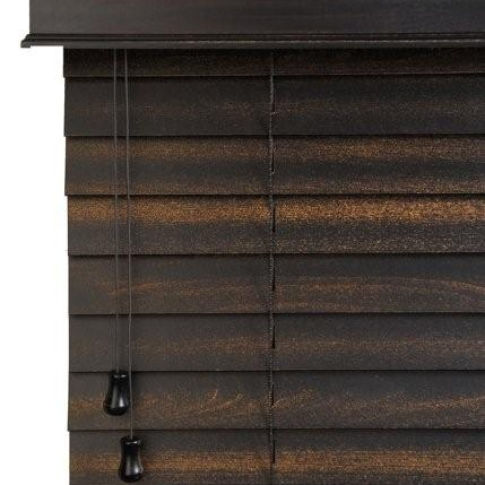 "Finecraft FineWoods 2 1/2"" Wood Blinds Room Setting"