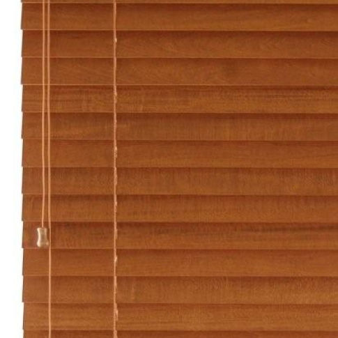 "Finecraft FineWoods 1-3/8"" Wood Blinds Room Setting"